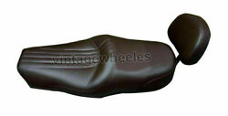 Exclusive Cross Cruiser Seat Brown And Backrest For Royal Enfield Standard