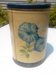 Vintage 1951 Morning Glory Wise Potato Chips Tin Canister Container 1 Lb Pa