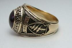 Solid 10k Gold Special Forces Ring Airborne De Oppresso Liber Us Size 8.5