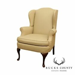 Queen Anne Style Vintage Wingback Chair