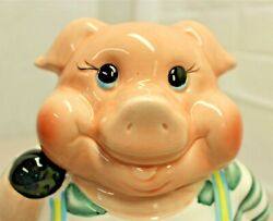 Savoy Pig Cookie Jar Kitchen Container Really Cute Colorful