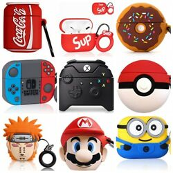 3D Funny Cartoon Cute Silicone Airpod Case for Apple Regular Airpods Pro Case $7.59