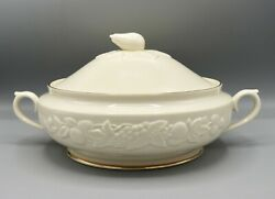 Lenox Fruits Of Life 8.5 Round Covered Vegetable Bowl Dish Mint Never Used