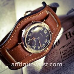 34mm Rolex Wandd 1918 Ww1 Military Officers Trench Vintage Men's Wrist Watch