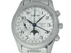Free Shipping Pre-owned Longines Master Collection Moon Phase L2.673.4.78.6