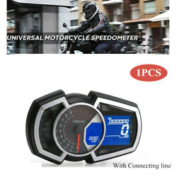 For 1,2,4 Cylinders Motorcycle 13000rpm Universal Black Lcd Instrument Odometer