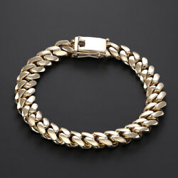 9 K Yellow Gold Tight Link Curb Bracelet Rrp Andpound3140 - 9 - Uk Hallmarked Bc3_...
