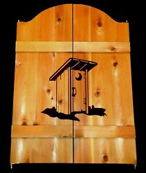 New Outhouse Saloon Bathroom Restroom Cafe Swinging Doors 24-36 Outdoor Shower