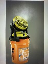 Brand New Ryobi 18-volt Portable Bucket Top Misting Fan Kit,battery And Charger