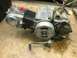 Vintage 1973 Honda Ct70 Engine For Honda Motorcycle Part Turns Over