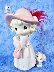 Precious Moments Sisters In Purple We'll Always Be Girl W/feathered Hat - Nib
