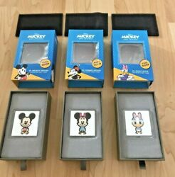 Chibi Mickey Minnie Mouse And Daisy Duck 1oz Silver Proof 3-coin Disney 2021 Niue