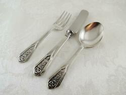 Wallingford Sterling Silver 3 Piece Baby Childs Spoon Fork Knife Set No Monogram