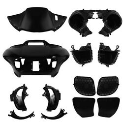 Black Outer And Inner Fairings Speaker Glove Box Air Duct Fit For Road Glide 15-up