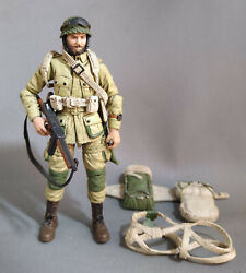 Joytoy 1/18 Wwii Us Paratrooper Geared Up Bearded Head Comes Equipped As Shown