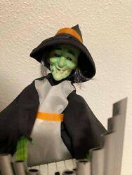 Easter Unlimited Halloween Motionette Witch Playing Pipe Organ Sound And Motion