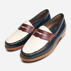 Bass Weejun Tricolore Spectator Shoes In White Navy Wine