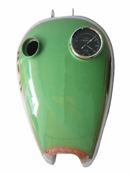 Fit For - Bsa B31 Green Painted Chrome Petrol Tank + Replica Smith Speedometer