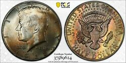 1968-d 40 Silver Kennedy Half Dollar Pcgs Ms64 Monster Toned Color Bu Unc