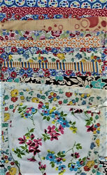 Lot Of 20 Plus Vintage Antique Feedsack Sew Craft Gift Bag Pouch Quilt Remnants