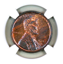 1917-s Ms63 Rb Ngc Lincoln Wheat Penny Superb Registry Quality Collection