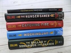 Hunger Games Complete Series 1-4 Hc Book Lot Catching Mocking Songbirds Snakes