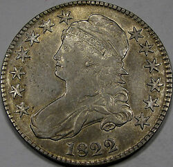 1822 O-115 Capped Bust Half Dollar Abt. Au... Flashy And Very Nice Great Coin