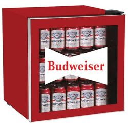 Budweiser Mis168bud 1.8 Cubic-foot Compact Refrigerator With Glass Door