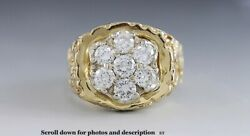 High Quality 14k Yellow Gold And 1.75ct Diamond Ring