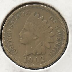 1902 Indian Head Cent 1c One Penny Higher Grade Vf - Xf 7159