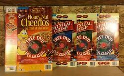 Vintage 2002 Team Canada Reflections Of Olympic Gold Dvd Set Cereal Boxes