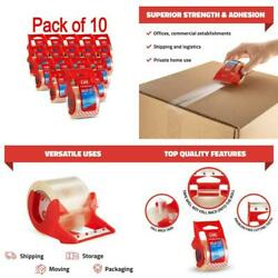 Strong Packaging Tape With Dispenser For Packing Moving Shipping Mailing 24 Pack