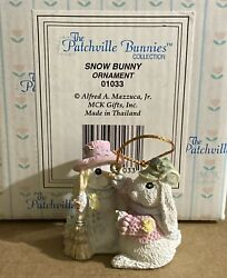 4 Patchville Bunnies Collection Ornaments 1994 01033, 01034, 01035, 01036 - Mib