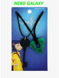 Coraline Key And Seeing Stone Necklace Set Officially Licensed New