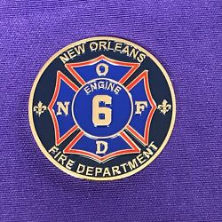 New Orleans Fire Dept Engine 6 Challenge Coin 1.75 New