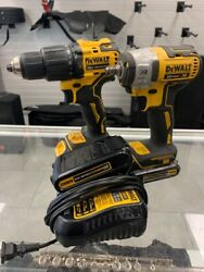 Dewalt Dcd709 Hammer Drill And Dcf890 3/8 Impact W/3-batteries And Ch Spc010130