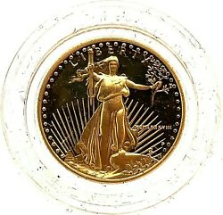 1988-p Gem Proof In Capsule 5 Gold 1/10 Oz. American Eagle Gold Bullion Coin.