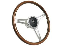 1965 - 1967 Ford Mustang Shelby Style Steering Wheel Kit   Running Pony Emblem