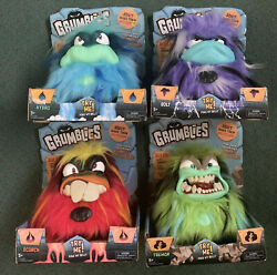 Grumblies Tremor, Bolt, Scorch, Hydro 40 Reactions Christmas Toy 2018 Lot Of 4