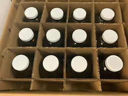 W216950 - 32oz Amber Wide Mouth Glass Bottles, Ptfe Lined Caps, Case/12