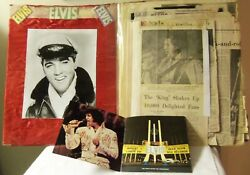 Elvis Presley-tour Booklet And03975 And Scrapbook 70and039s Articles / 3 - 8x10 Photos