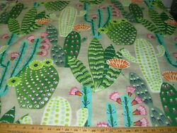 4 4/8 Ydshome Accent Desert Flower Cactus Cotton Upholstery Fabric For Less