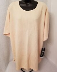 Sag Harbor Nwt Womens Yellow Striped Shirt Top Blouse Size 3x