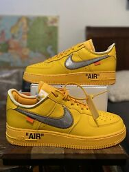 Nike Air Force 1 Low Off White University Gold Size 12 Authentic Deadstock