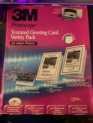 3m Printscape Textured Blank Greeting Cards With Envelopes Variety Pack New