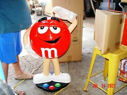 Mandm Red Store Candy Display.....41 Tall New In The Box