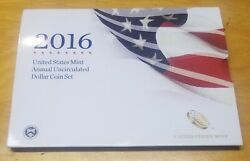 2016 Us Mint Annual Uncirculated Dollar Coin Set With W Burnished Silver Eagle