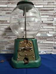 Vintage 1920's Advance Gumball Machine 1cent Penny Complete