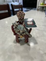 Blue Sky Heather Goldminc Christmas Collection Charlie The Cat Tealight Holder