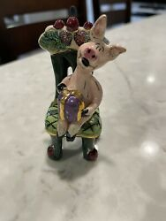 Blue Sky Heather Goldminc Christmas Collection Pig In A Chair